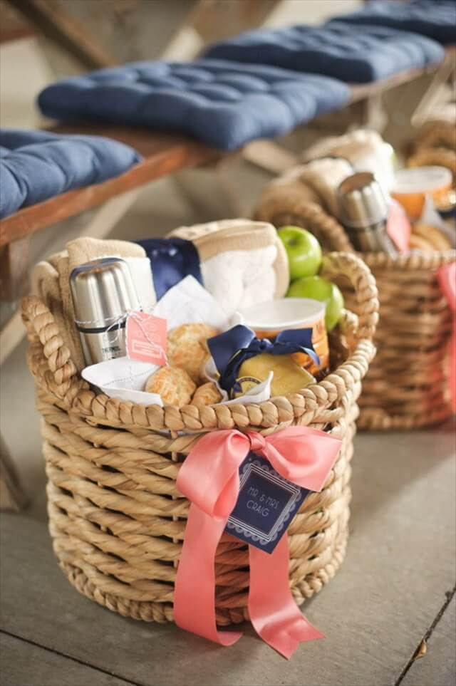 Welcome Gift Basket For Wedding Guests