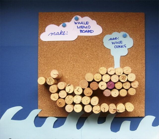Whale Wine Cork Board