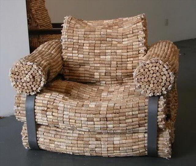 Wine Bottle Corks Armchair