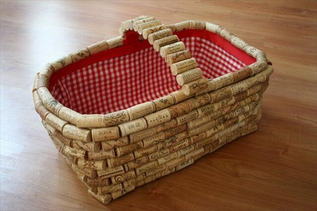 DIY Wine Cork Basket