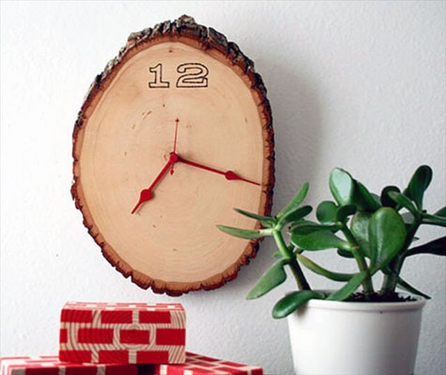 Wood Slice Clock: