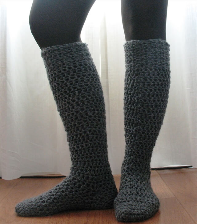 15 Crochet Knit Pattern For Knee Socks Diy To Make