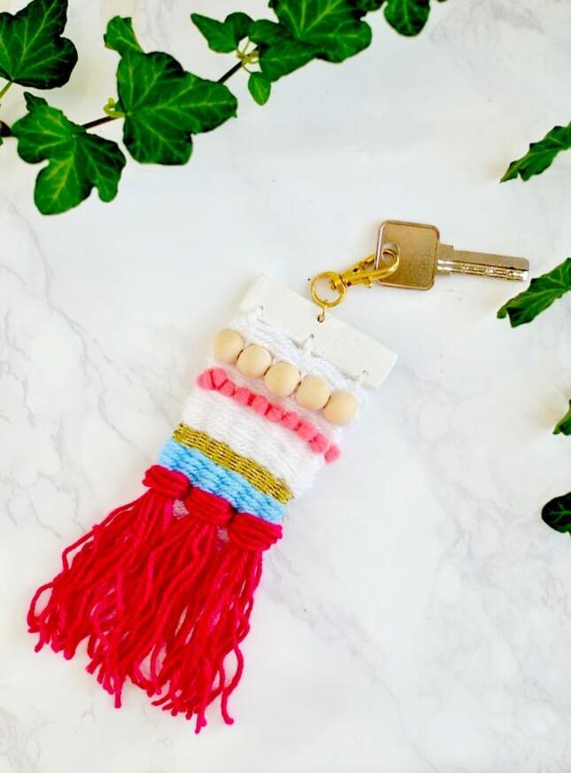 DIY Woven Keychain
