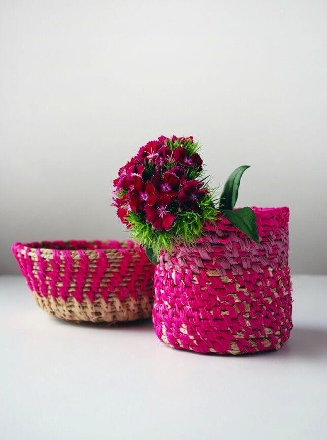 DIY Woven Raffia Basket