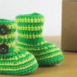 15 Super Easy Crochet Baby Booties