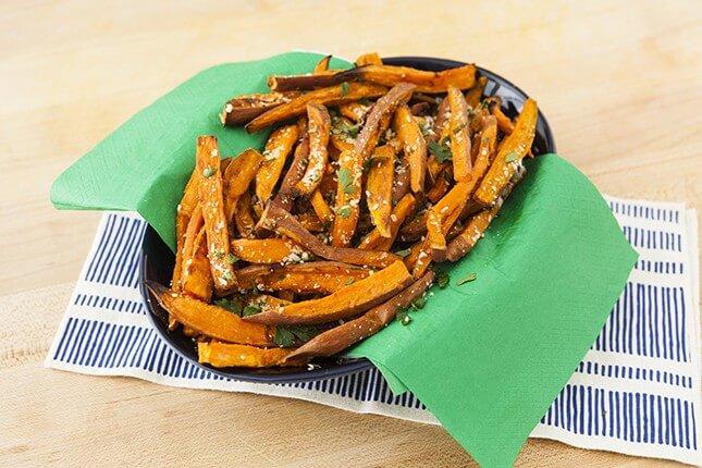Sweet Potato Fries With Garlic + Herbs