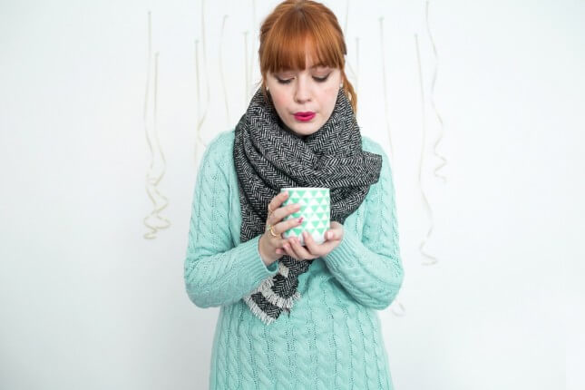 DIY No-Sew Blanket Scarf