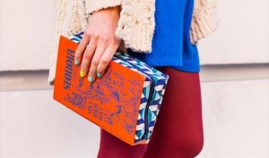 Book cover clutch