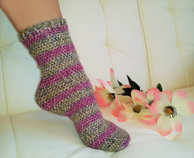 Nice crochet socks and leg warmer