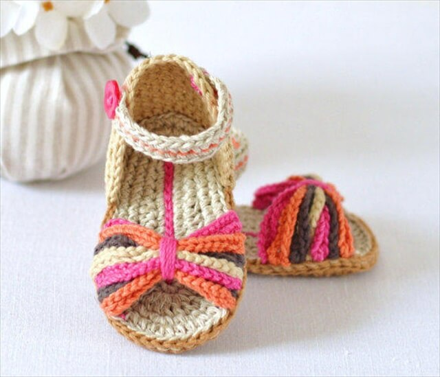 Baby Sandals Paris Style Baby Shoes Easy Crochet Pattern