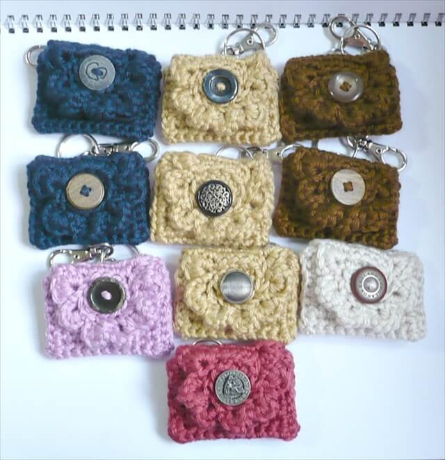 Bulk Order of Ten Crochet Coin Purses/Key Chain Purses