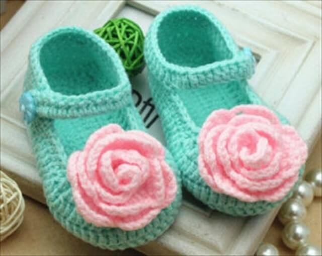 diy crochet shoes