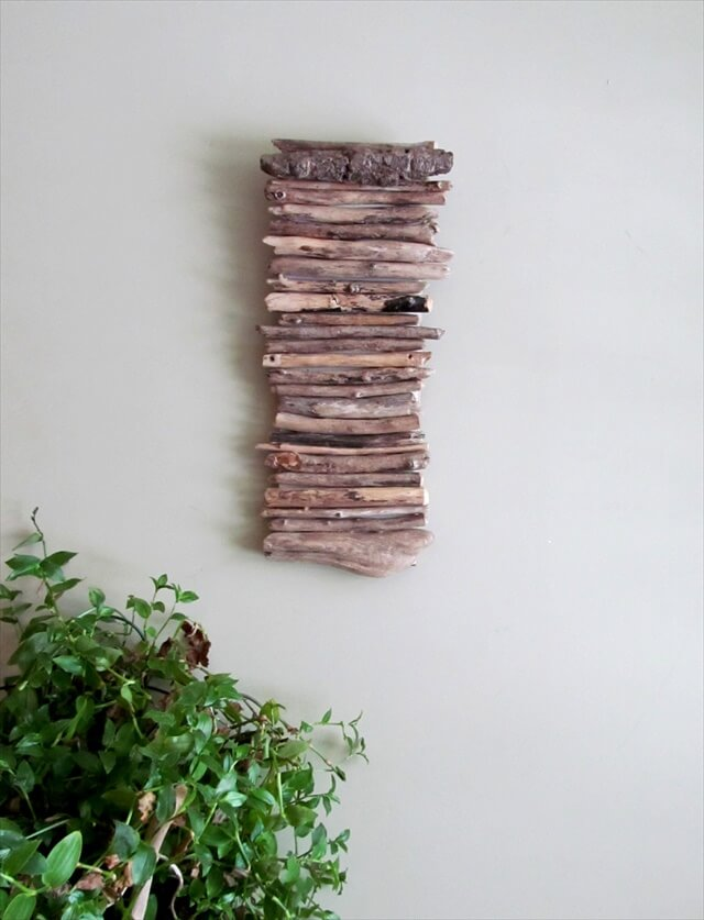 Driftwood Hanging Art, Driftwood Wall Hanging Art, Wall Art, Beach Home Decor