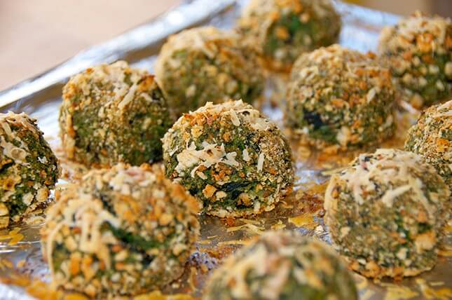 Spinach + Kale Cheese Balls