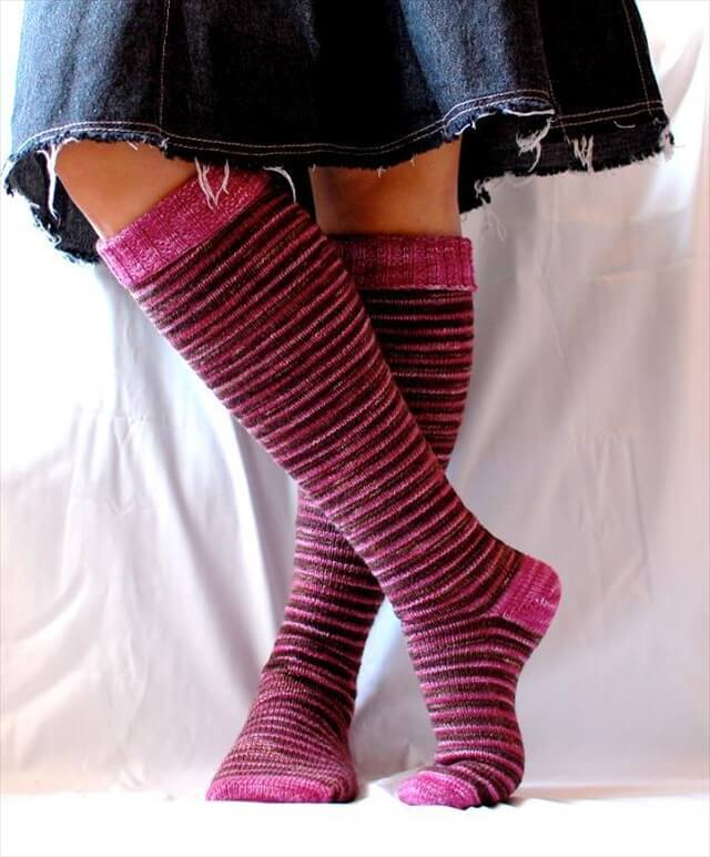 15 Crochet Knit Pattern For Knee Socks
