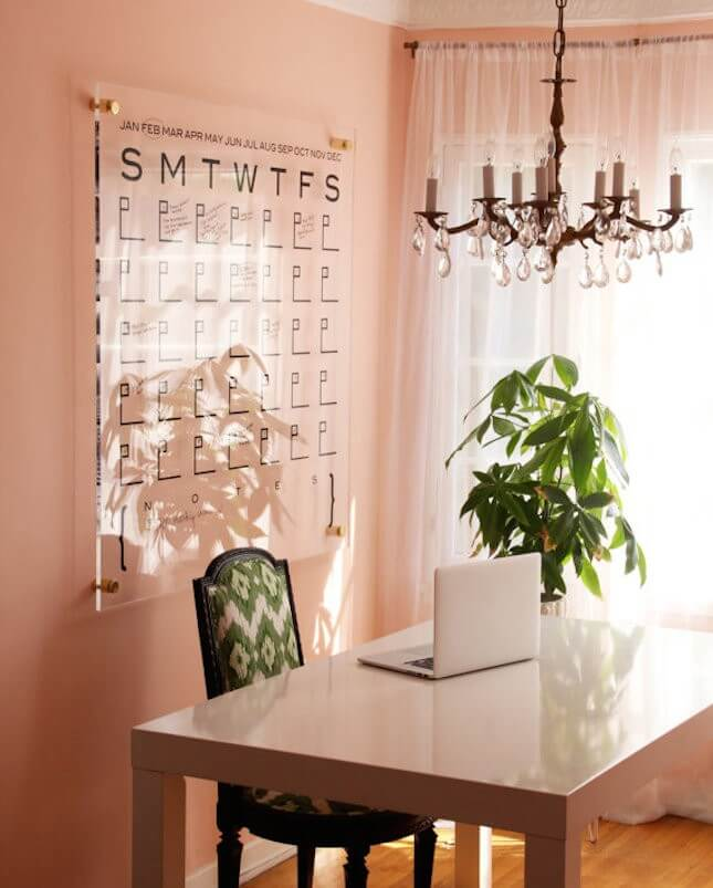 Lucite Wall Calendar