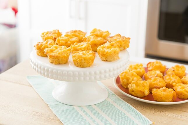 Mac + Cheese Bites