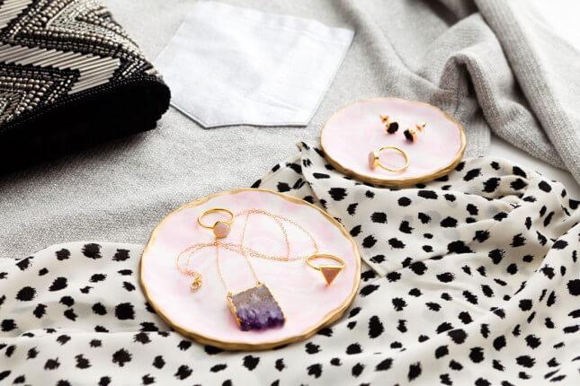 DIY Marbled Jewelry Trays