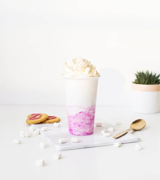 DIY Marbled Travel Cup
