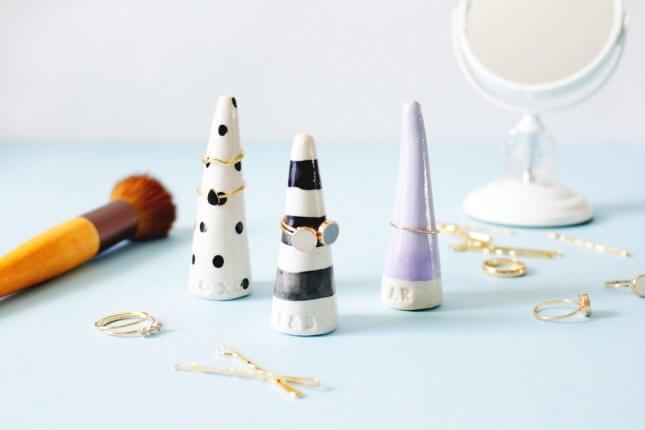 DIY Monogrammed Ring Cones