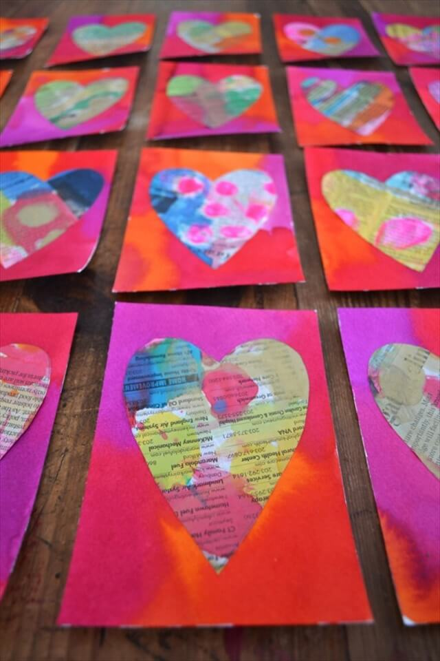 Newspaper Hearts