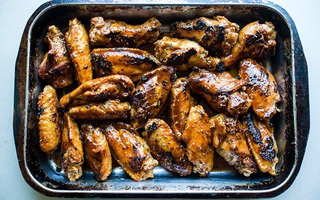 Honey Mango Party Wings