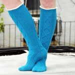 ruffle cable knee socks and leg warmer
