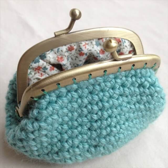 How To Make Crochet Purse : 16 Crocheted Coin Purses Ideas DIY to Make