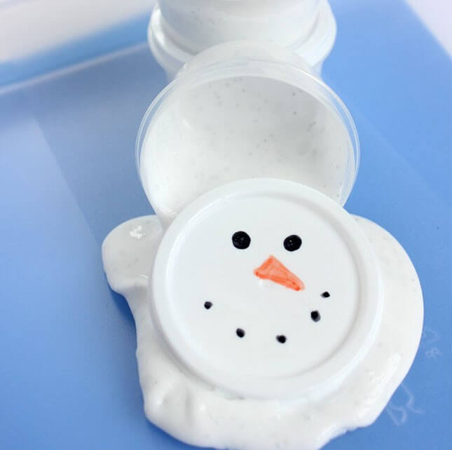 DIY Melted Snowman Slime