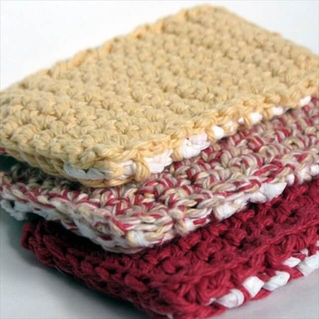 Scrubbie sponge crochet pattern: Crochet Kitchen, Crochet Crafts, Trash Crafts, Crochet Dishcloths