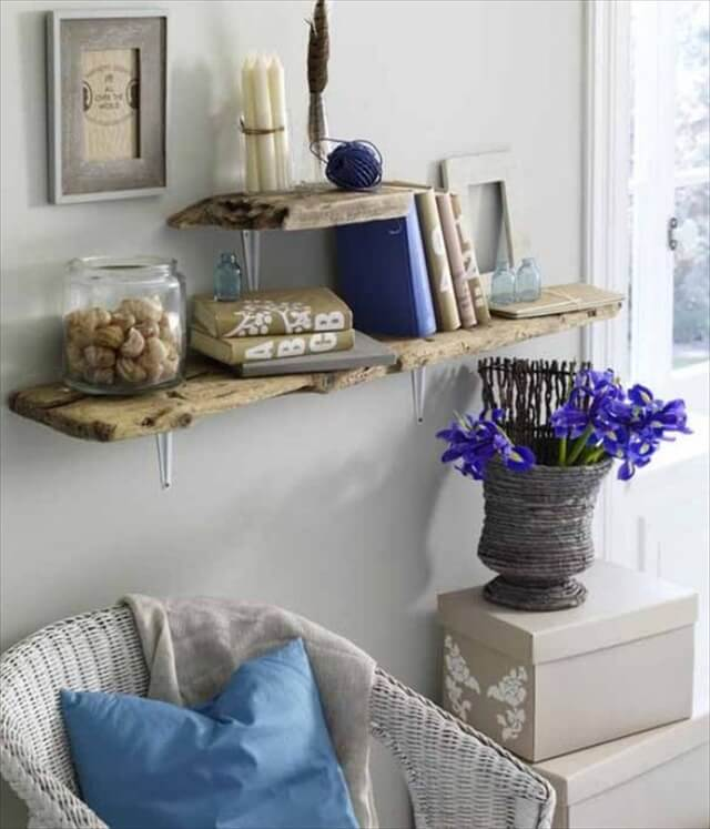 Diy Driftwood, Driftwood Living, Decor Ideas, Living Room Wall Decor, Driftwood Shelves, Home Decorating Ideas, Shelves Ideas