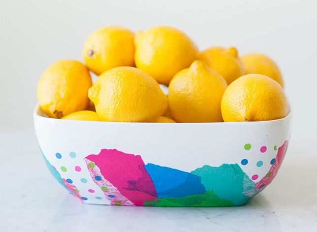 DIY Abstract Fruit Bowl