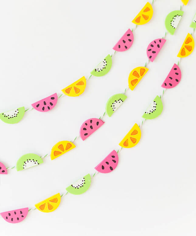 DIY Fruit Garland