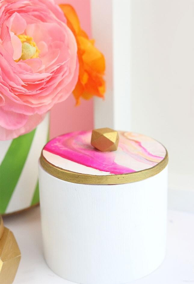 DIY Clay + Wood Jewelry Boxes