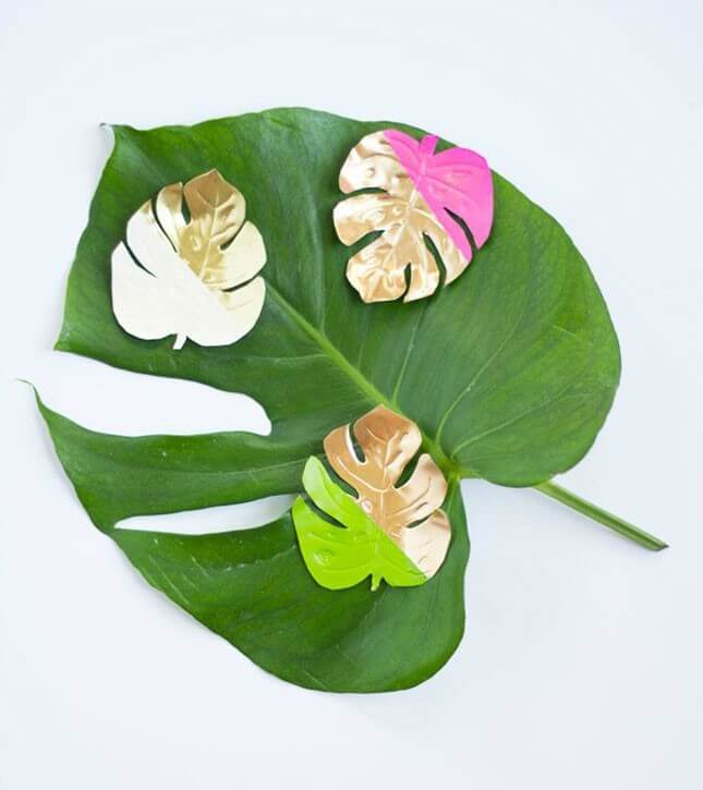 DIY Tropical Leaf Magnets