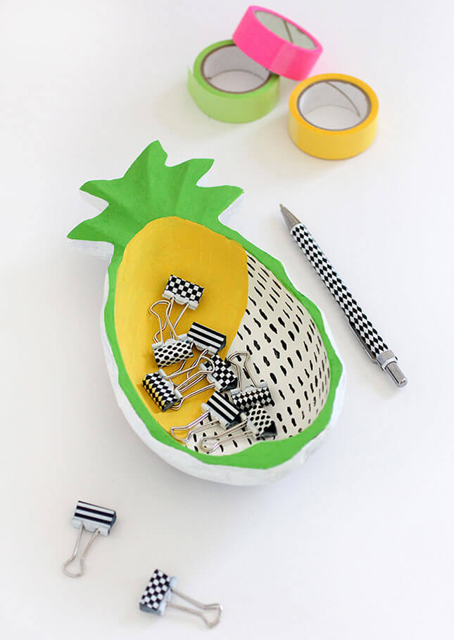 DIY Wooden Pineapple Bowls