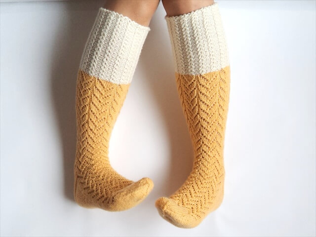 Sunshine yellow boot socks
