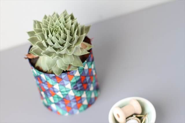 DIY fabric vase project