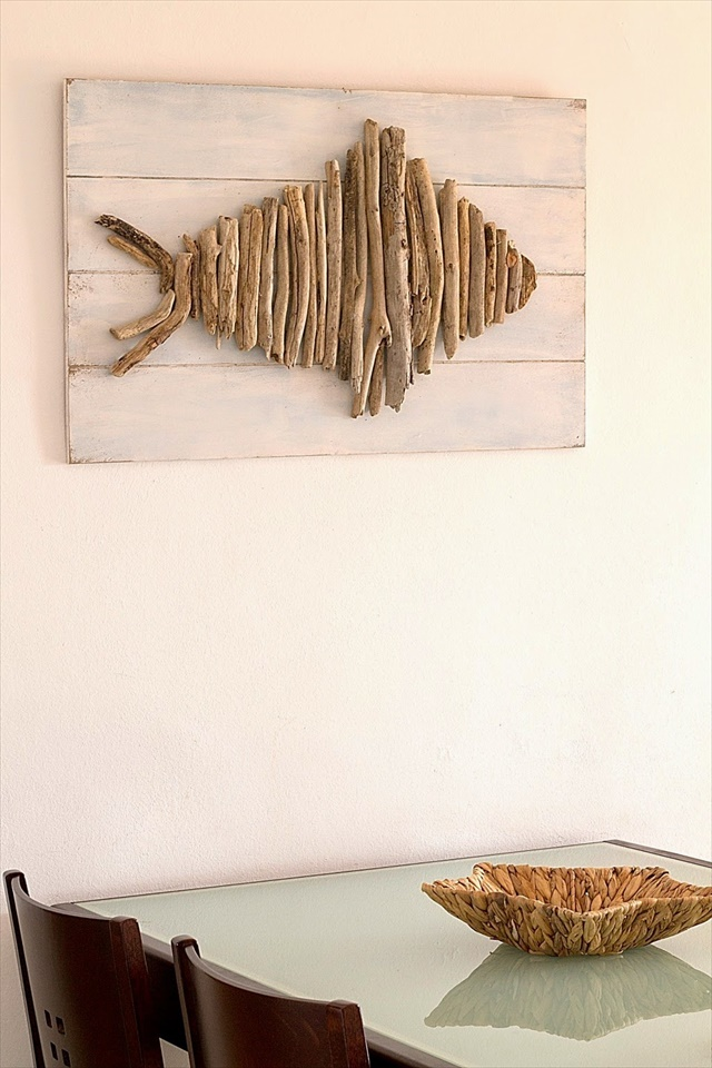 Awesome driftwood wall art. Something to do with all my driftwood pieces that wash up