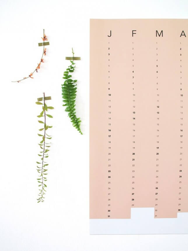 Snug Column Wall Calendar Terra Cotta
