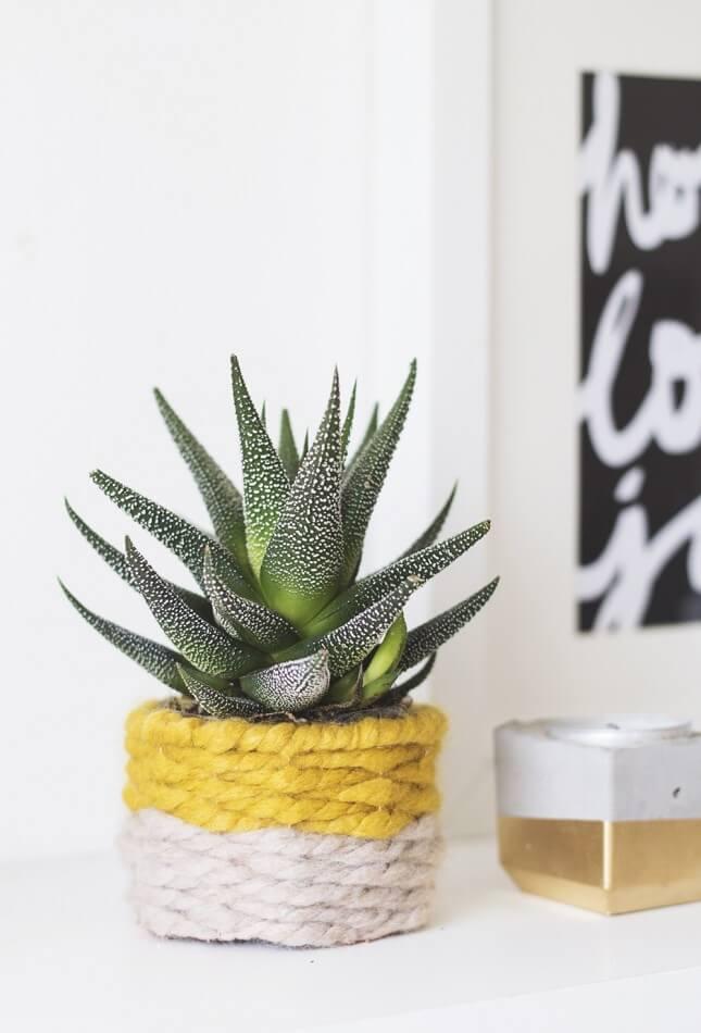 DIY Woven Planter
