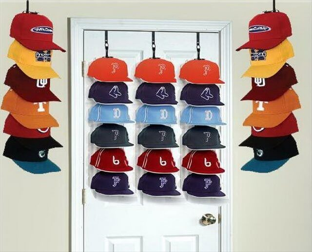 Cap hanging rack cosmecol for Hat hanging ideas