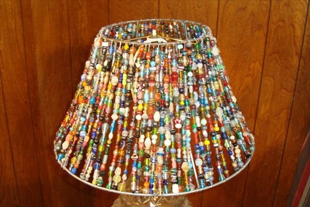 15 amazing diy lamp ideas diy to make beading lamp mozeypictures Gallery