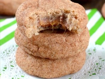 Caramel Infused Churro Cookies
