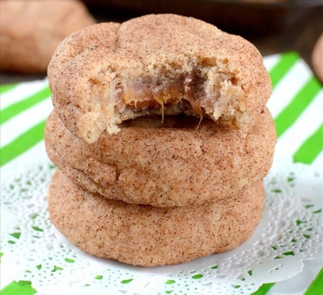 Caramel Infused Churro Cookies