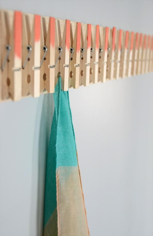Easy DIY Clothespin Scarf Holder
