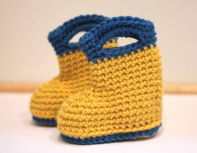 Crochet rain boots for the Spring