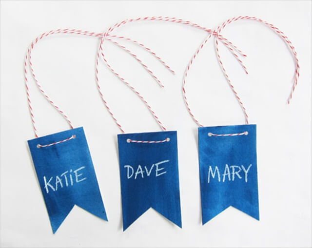 Elegant Bunting   Name Tag Design Ideas
