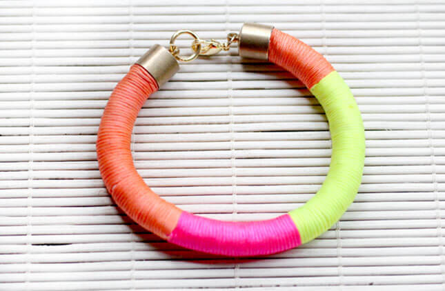 Neon Wrap Bracelet: