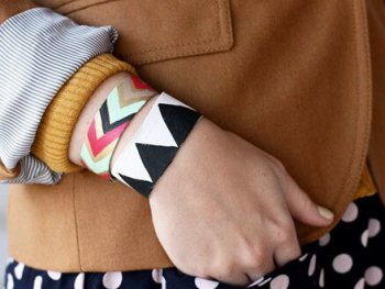 Painted Leather Bracelet: